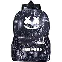 GD-fashion Dj Marshmello Mochila ligera para niños de vuelta al cole, mochila duradera para niños, 12, Una talla