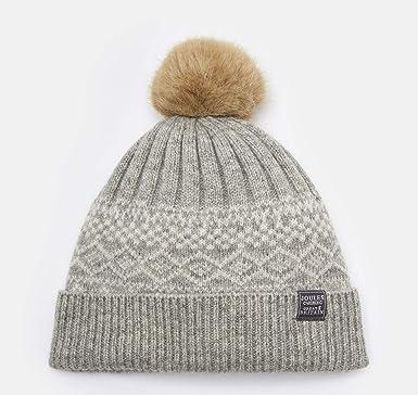 5b9418d0e5c Joules Elsa Null Fairisle Bobble Hat (Grey Marl)  Amazon.co.uk  Clothing