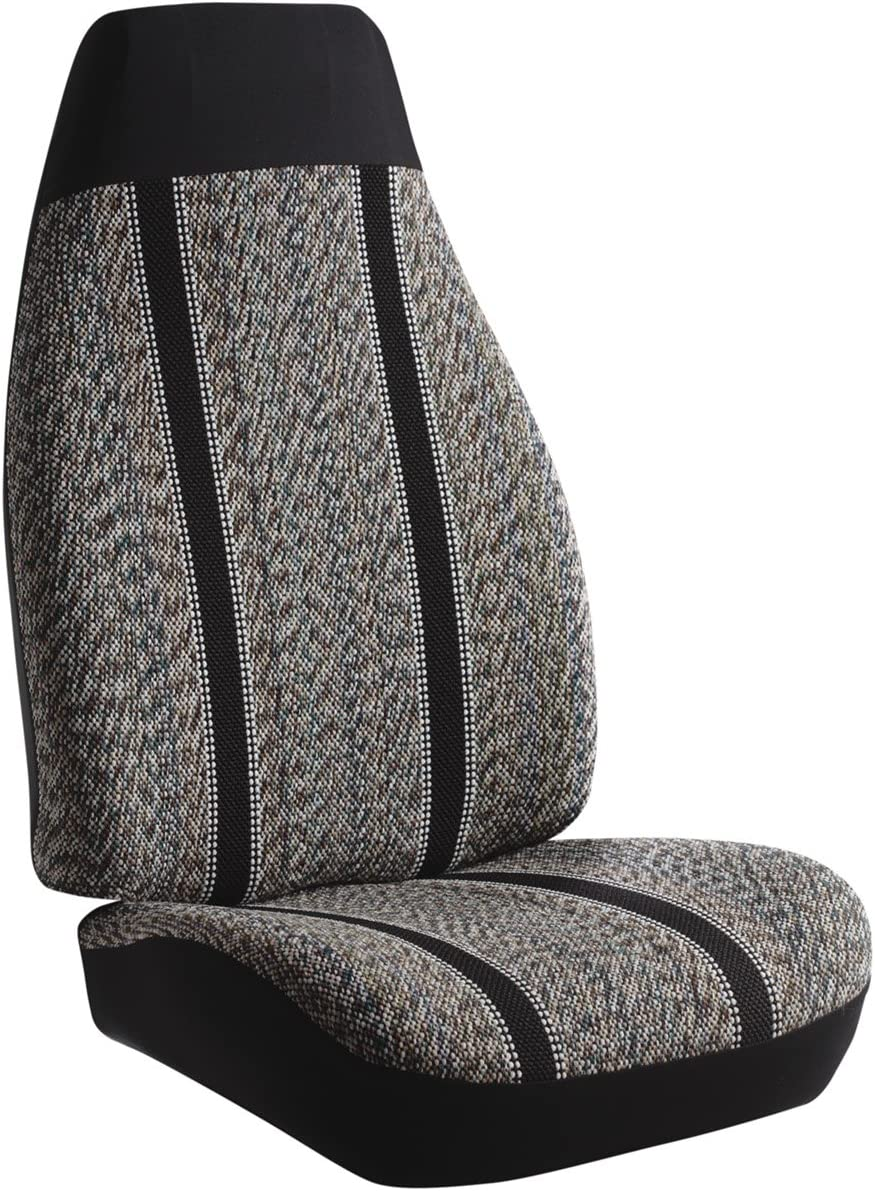 FIA SP83-2 GRAY Universal Fit Car Bucket Seat Cover Gray