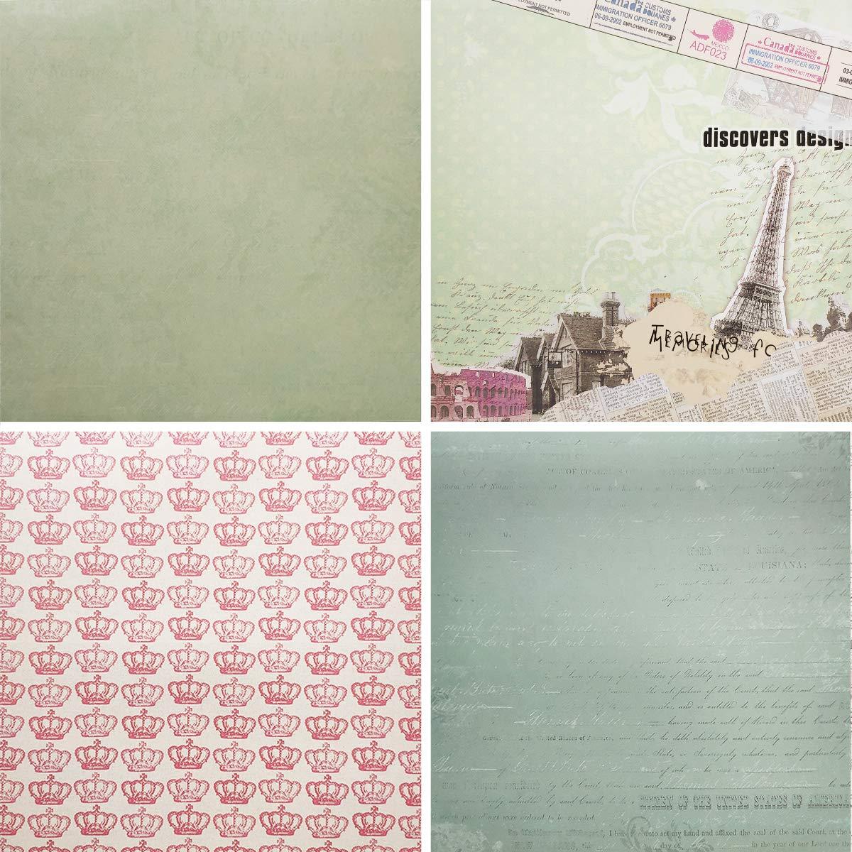 005 40 Sheets) levylisa 8x8 Cardstock Paper Pad Designer Paper Pad Floral Scrapbook Paper Decorative Craft Paper