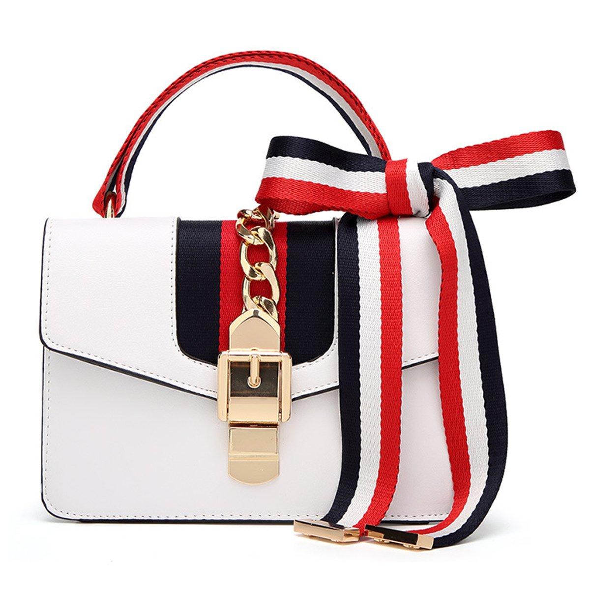 2018 neue Damen Tasche Fashion Handtasche Satinband kleine Tasche Umhängetasche Umhängetasche Kette Tasche (22 x 8 x 15 cm, Rot) liyuanbaihuo