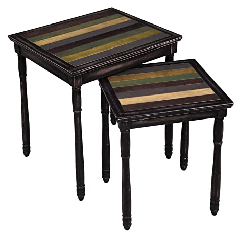 Super Vasagle Nesting End Tables With Colorful Storage Tabletop Pair Of 2 Coffee Tables With Solid Wood Legs Assembly Without Tools Side Table For Living Squirreltailoven Fun Painted Chair Ideas Images Squirreltailovenorg