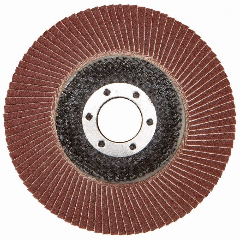 Zirconia Corundum 5 Inch Flap Disc Sanding Grinding Wheel 50 Pack (Each 10 of 40 60 80 100 120 Grit,Red)