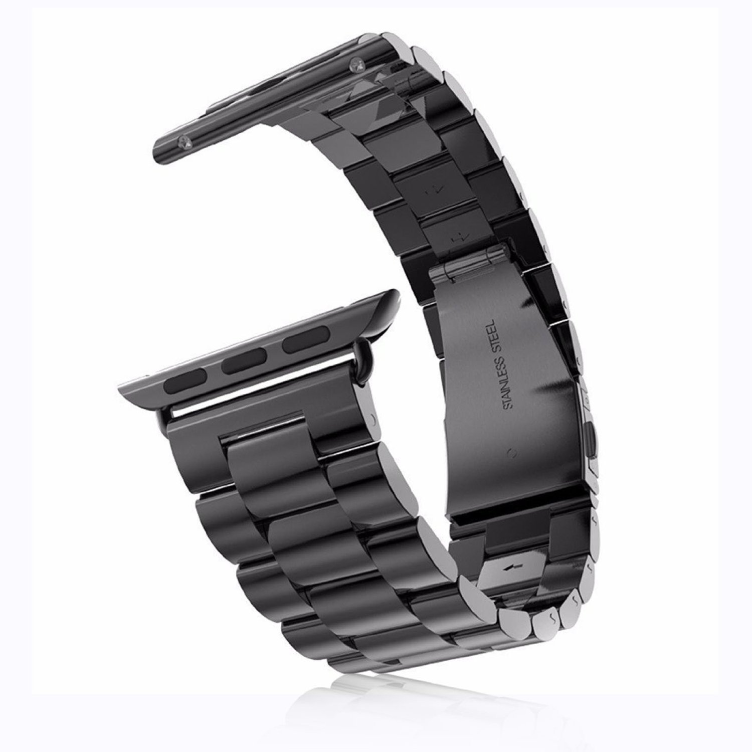 Leefrei Stainless Steel Replacement Strap Watch Band for 42mm Apple Watch Series 3 Series 2 and Series 1 - Black by Leefrei (Image #5)