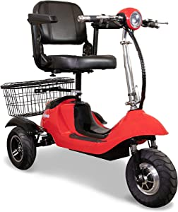 EWheels EW-20 Long Range High Speed Mobility Scooter 300lbs Red and Black