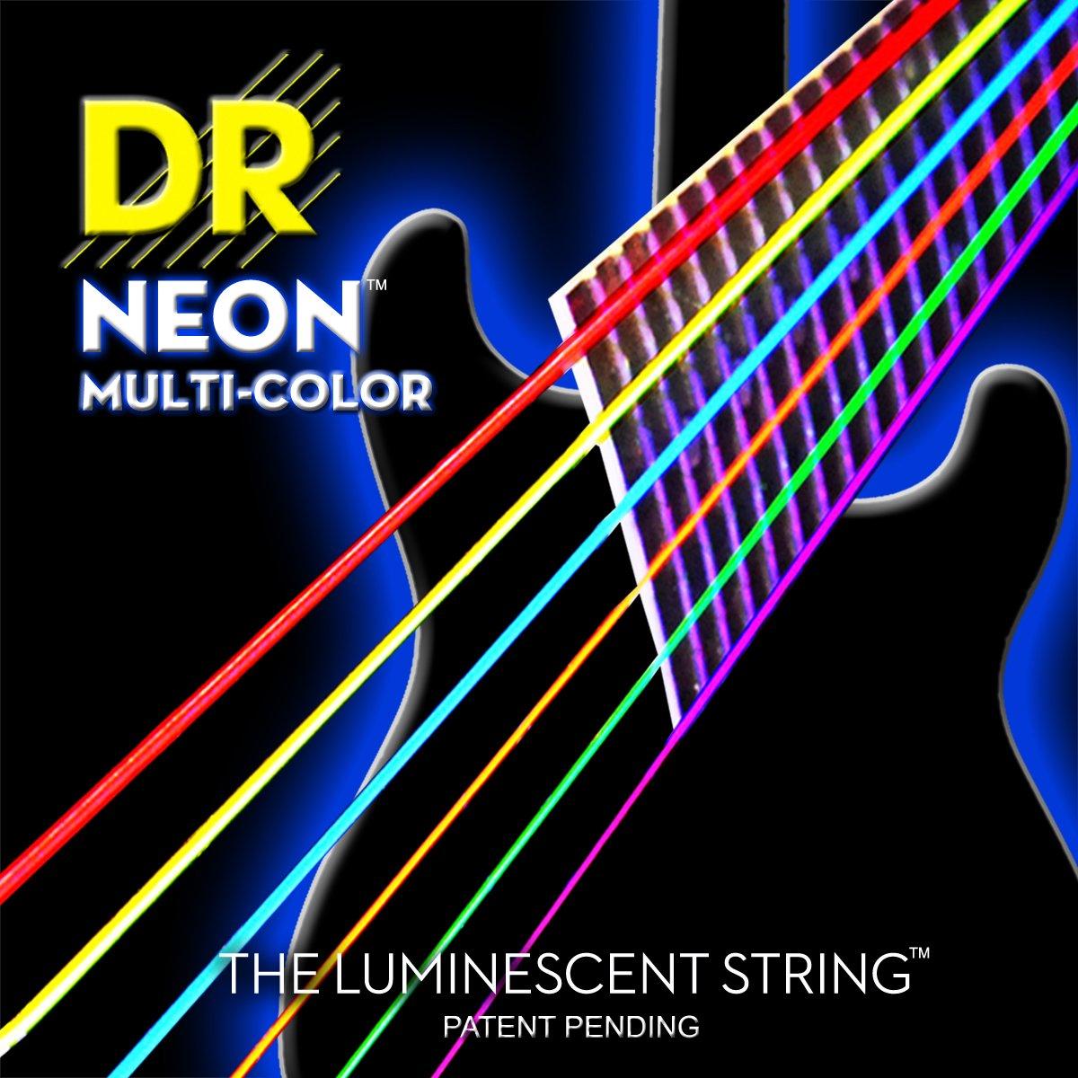 DR Strings NMCE-10 DR NEON Electric Strings, Medium, Multi-Color
