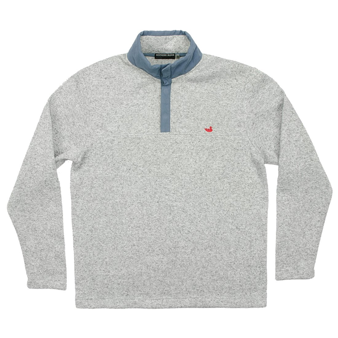 Southern Marsh Woodford Snap Pullover-Avalanche Gray-large