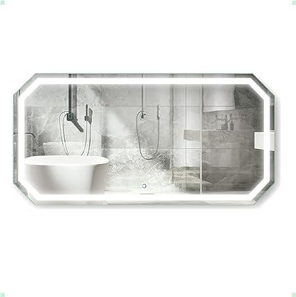 9bc4fca8b89f Amazon.com  Krugg Octagon LED Bathroom Mirror 60 Inch X 30 Inch ...