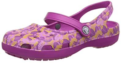 0c00e69468b83a Crocs Shayna Graphic Mary Jane Vibrant Violet Womens Slingback Size 5M