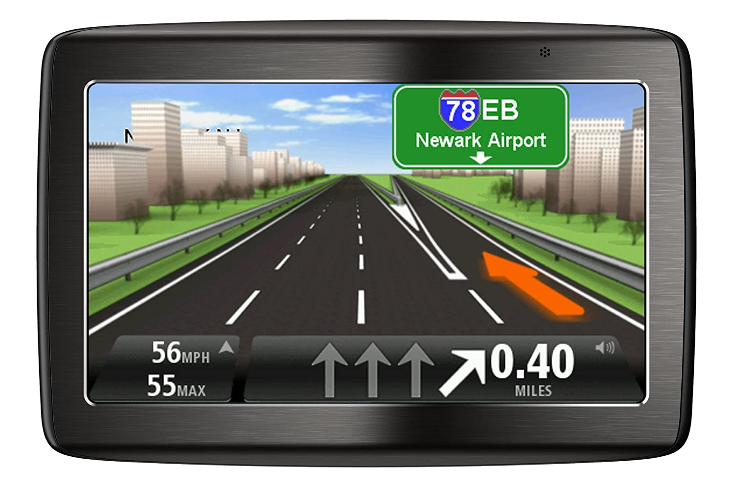 Amazon Com Tomtom Via Tm  Inch Bluetooth Gps Navigator With Lifetime Traffic Maps And Voice Recognition Home Audio Theater