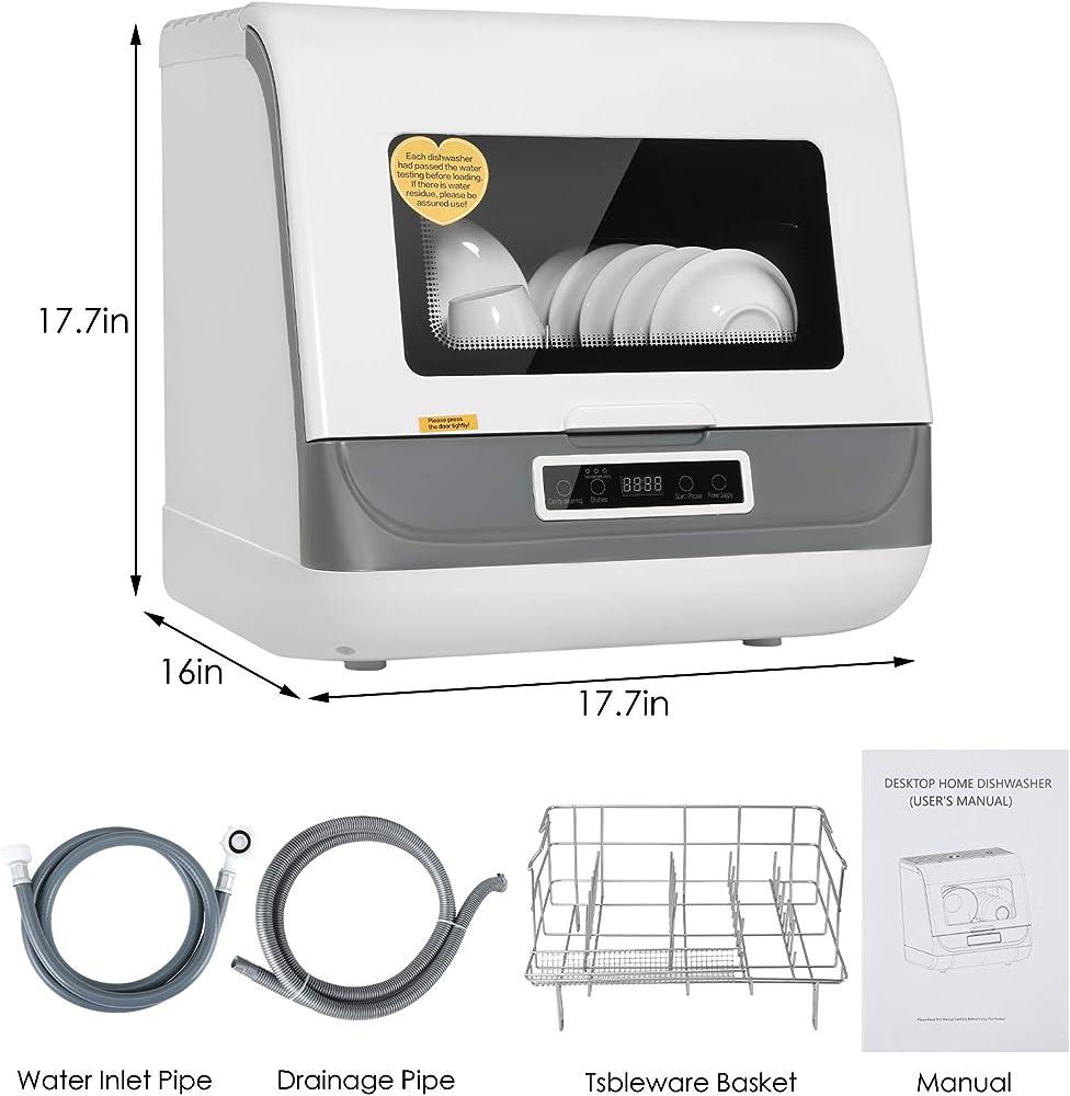 Mini lavastoviglie comoda da tavolo a risparmio energetico