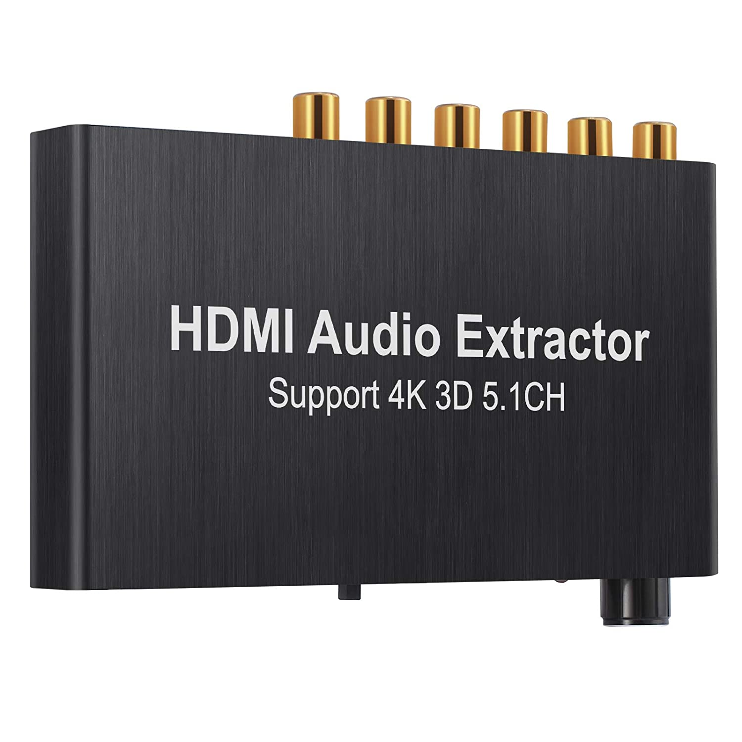 Proster HDMI Audio Extractor Converter HDMI to Optical Toslink SPDIF with 1M HDMI 1.4 Cable and 3.5mm Stereo Audio Splitter Adapter Support 4K x 2K 3D