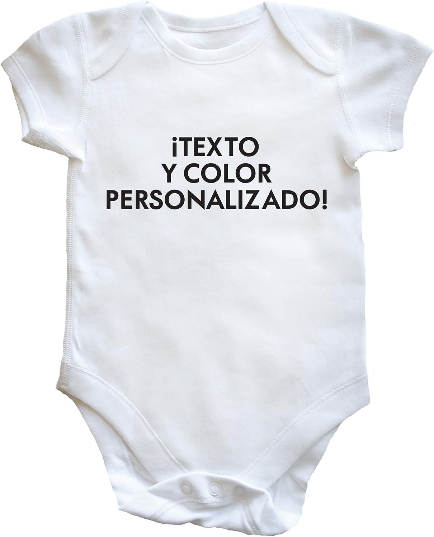 HippoWarehouse Texto y Color Personalizado Body Bodys Pijama niños niñas Unisex