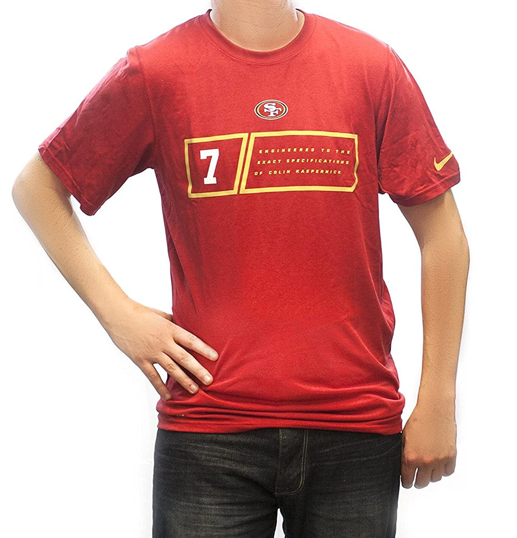 fdd6f0bb0 Nike Men s San Francisco 49ers Colin Kaepernick Player Specs Tee Gym Red  Size Medium at Amazon Men s Clothing store