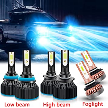 LED Headlight Kit 9005 HB3 6000K White High Beam Bulbs for 2015-2019 FORD F-150