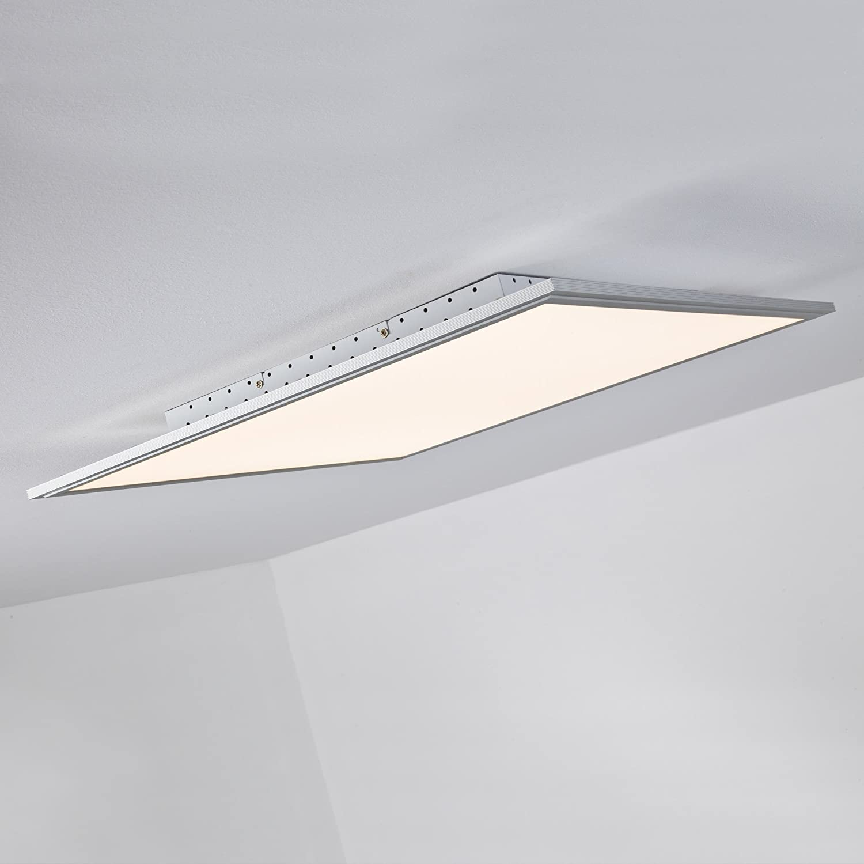 LED LED LED Panel 42W Deckenleuchte, 60 x 60 cm eckig, inkl. Fernbedienung dimmbar, 3.310 Lumen, dimmbar, 2700-6500K, Metall   Kunststoff, alu   weiß bc8967