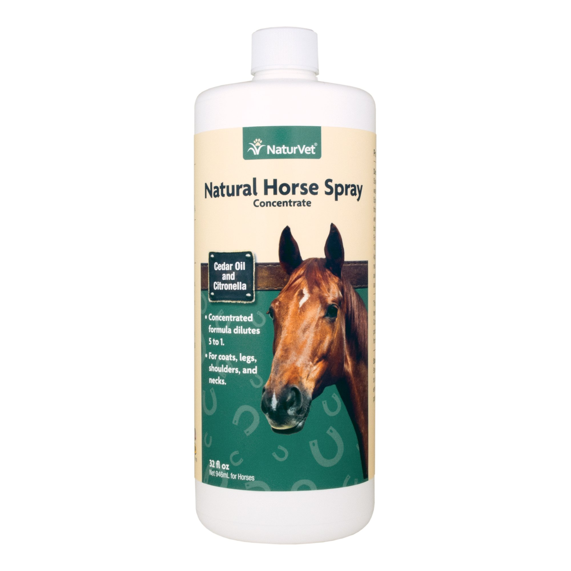 NaturVet Natural Horse Spray with Cedar Oil and Citronella Concentrate for Horses, 32 oz Liquid, Made in the USA