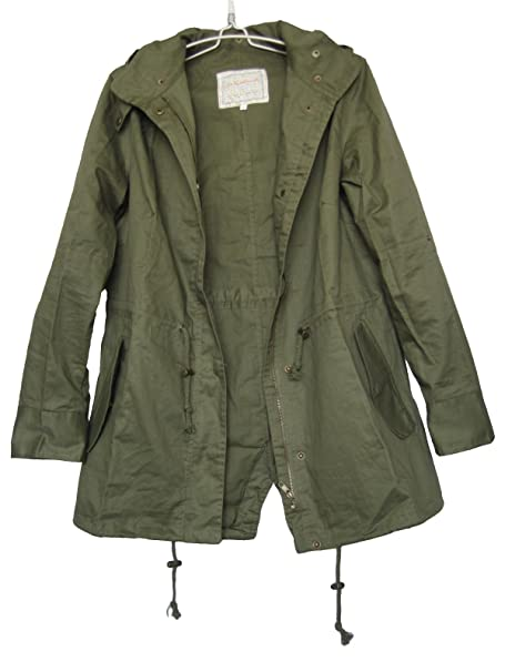 cca57dfb Vedem Women's Hooded Drawstring Military Jacket Parka Coat Army Green