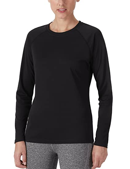 ff2c30b2 NAVISKIN Women's Sun Protection UPF 50+ UV Outdoor Long Sleeve T-Shirt  Black Size
