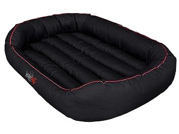 Hobbydog Cama Ovalada para Perro, Talla XL, Color Negro/Rojo: Amazon.es: Productos para mascotas