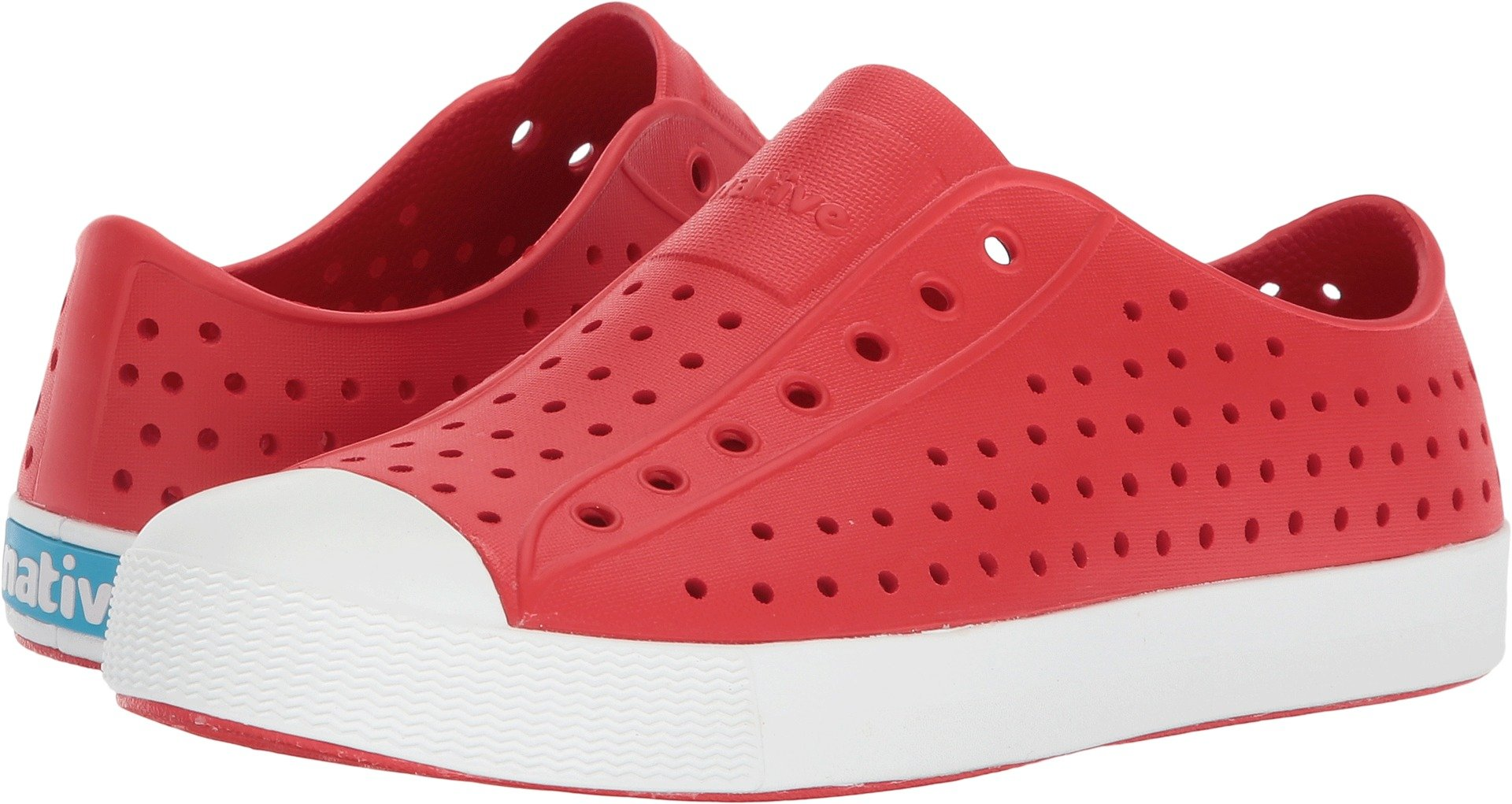 Native Kids unisex-kids Jefferson  Water Shoe,torch red/shell white,1 Medium US Little Kid