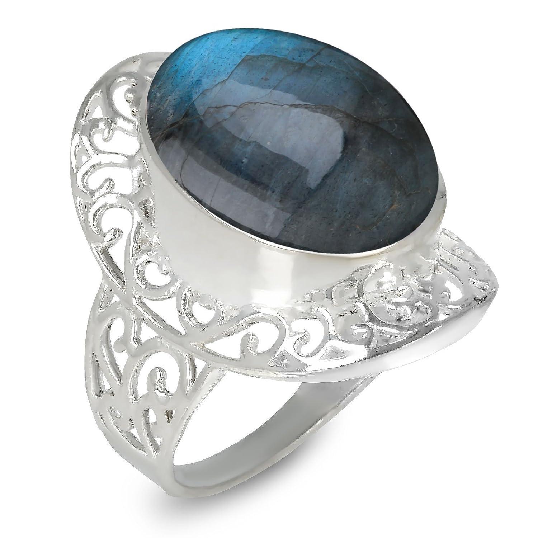 Weihnachtsgeschenk Frau-Labradorite-Ring große Frau billig original ...