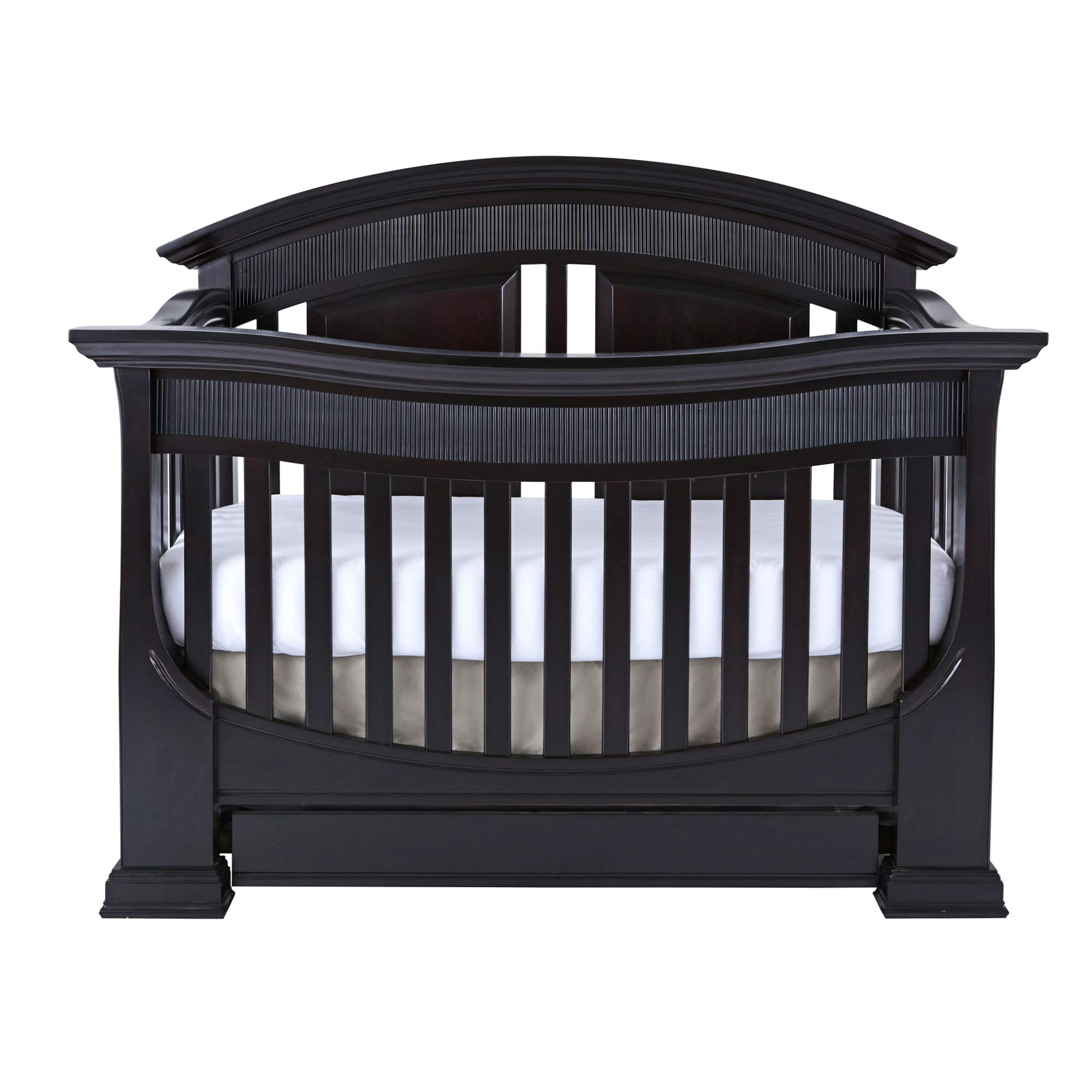 Full Size Conversion Kit Bed Rails for Baby Appleseed Beaumont, Chelmsford, Davenport, Kennedy, Millbury, Stratford Cribs (Espresso) by CC KITS (Image #2)