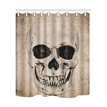 "72x72/"" Horror Gothic Skull Waterproof Fabric  Shower Curtain Bath Accessory Sets"