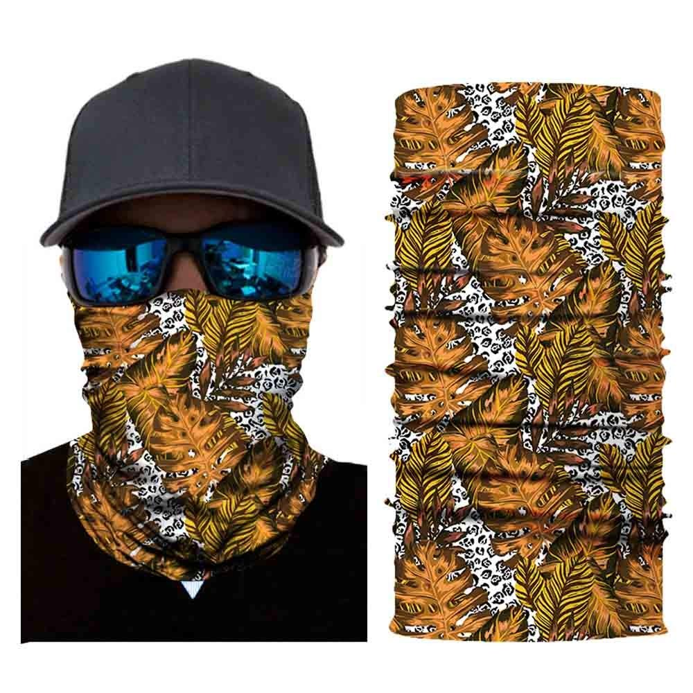 Print Head Scarf Neck Windproof Face Mask Outdoor Ride Halloween Folk-Custom Headband (E)