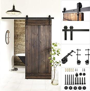 Fixkit Kit de fijación de guía para puerta corredera, para puerta de techo de madera: Amazon.es: Bricolaje y herramientas