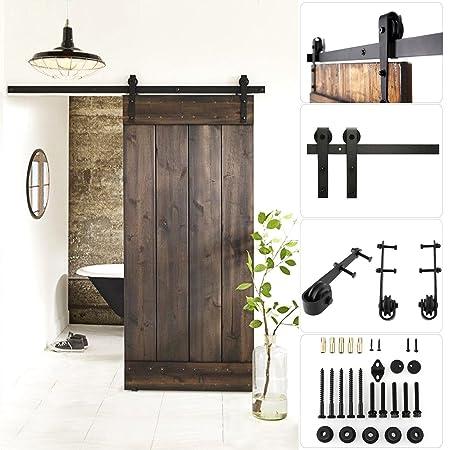 Femor 6ft 66ft Modern Sliding Barn Wood Door Hardware Closet Set