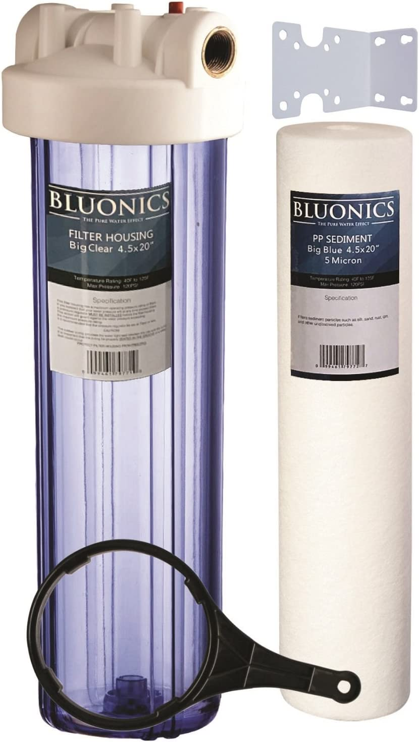 """Sediment Whole House Water Filters Iron Rust 5 Micron 4-PK Big Blue 20 x 4.5/"""""""