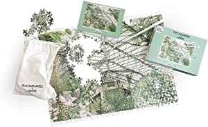 Print Club London x Luckies Barbican Conservatory Jigsaw Puzzle 500 Pieces - Jigsaw Puzzle for Adults - Garden Art Jigsaw - Artist Edition Jigsaw Puzzle, Lucille Clerc