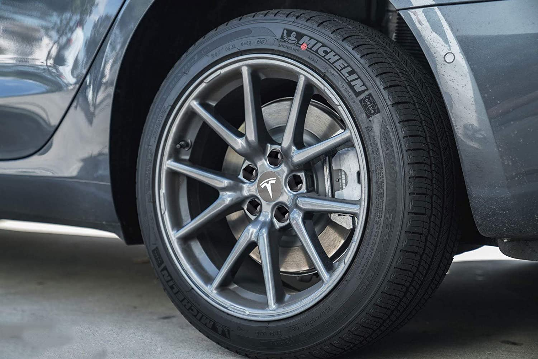 Tesla Model 3 Aero Wheel Cap Grey /& White