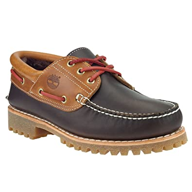 4d878c82e3b Timberland Authentics Fourrure d agneau de 3 Eye Boat Shoes - - Marron foncé