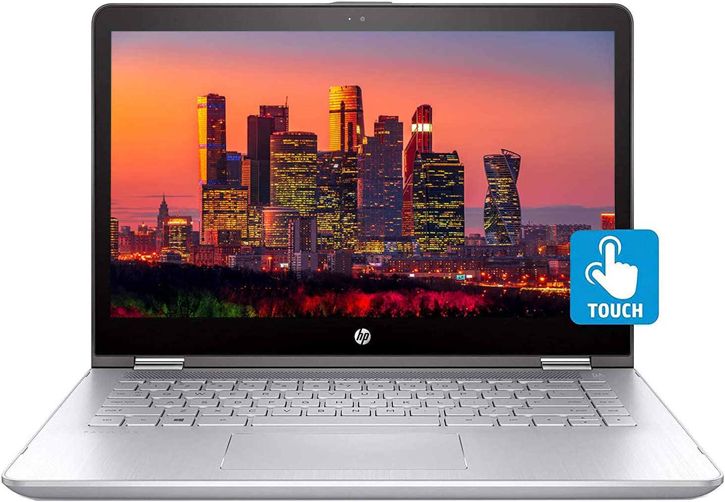 HP Pavilion x360 14-ba200 2 in 1 Notebook with 14 Inch Touchscreen Display, Intel Core i5-8265U, 12GB RAM, 16GB Optane Memory, 1TB SSD, Win 10 Home (Renewed)