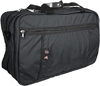 product image for Tri-Zip Carry-On Suitcase, by Tough Traveler - Made in USA (Black)
