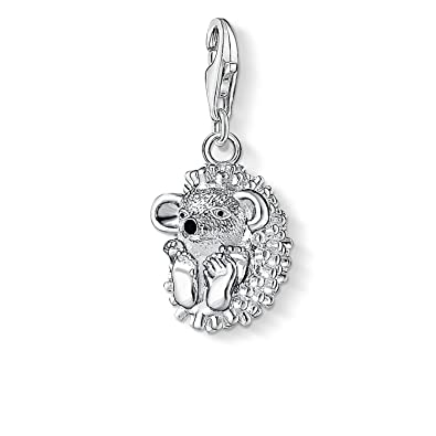 Thomas Sabo Women-Charm Pendant Hedgehog Charm Club 925 Sterling Silver 1095-007-12 G4wDABpy