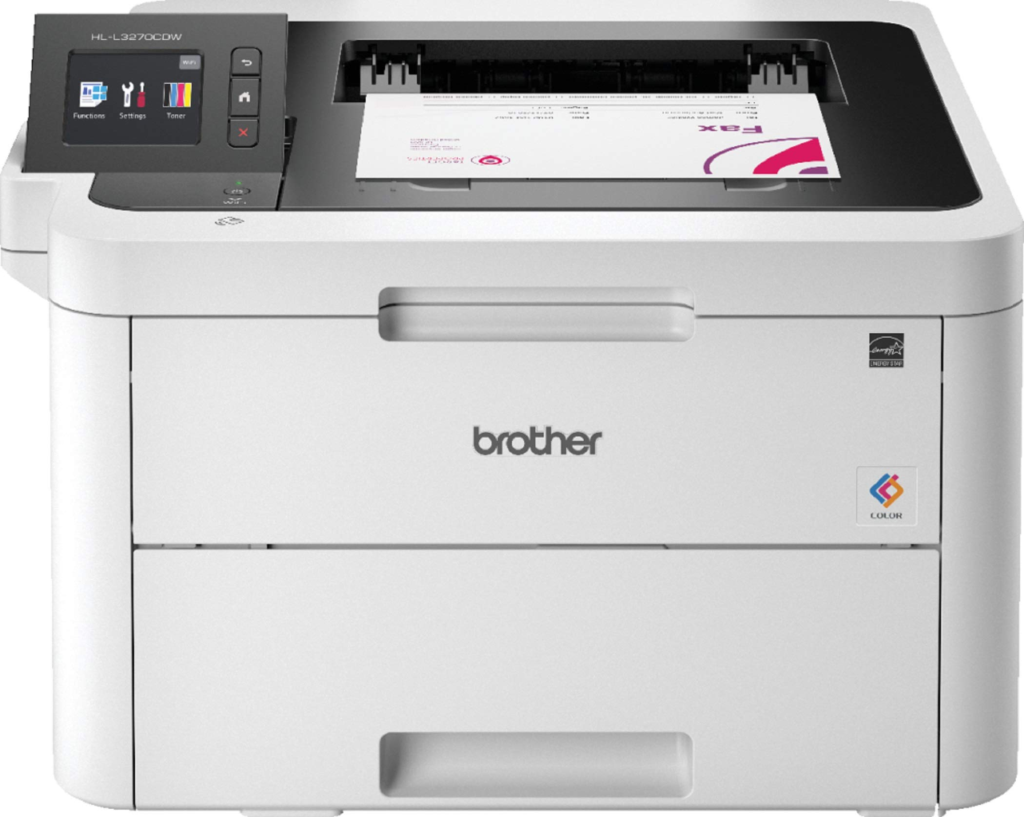 Brother HL-L3270CDW Colour Laser Printer - Single Function, Wireless/USB 2.0/NFC, 2 Sided Printing, 24PPM, A4 Printer, Small Office/Home Office Printer