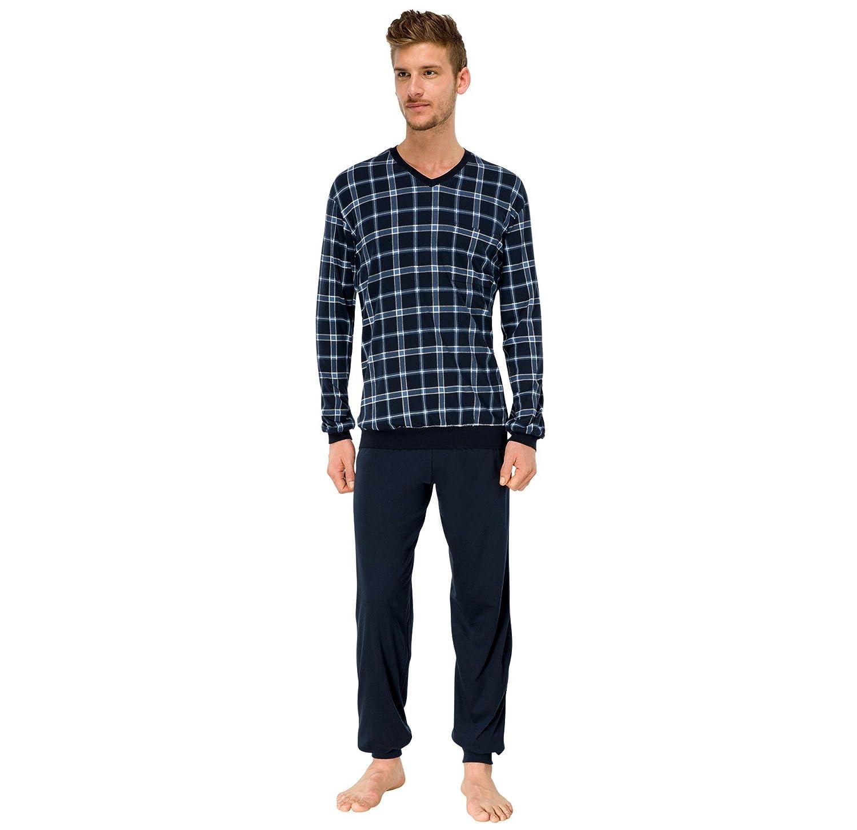 Michaelax-Fashion-Trade Men's Checkered Long Sleeve Pyjama Set