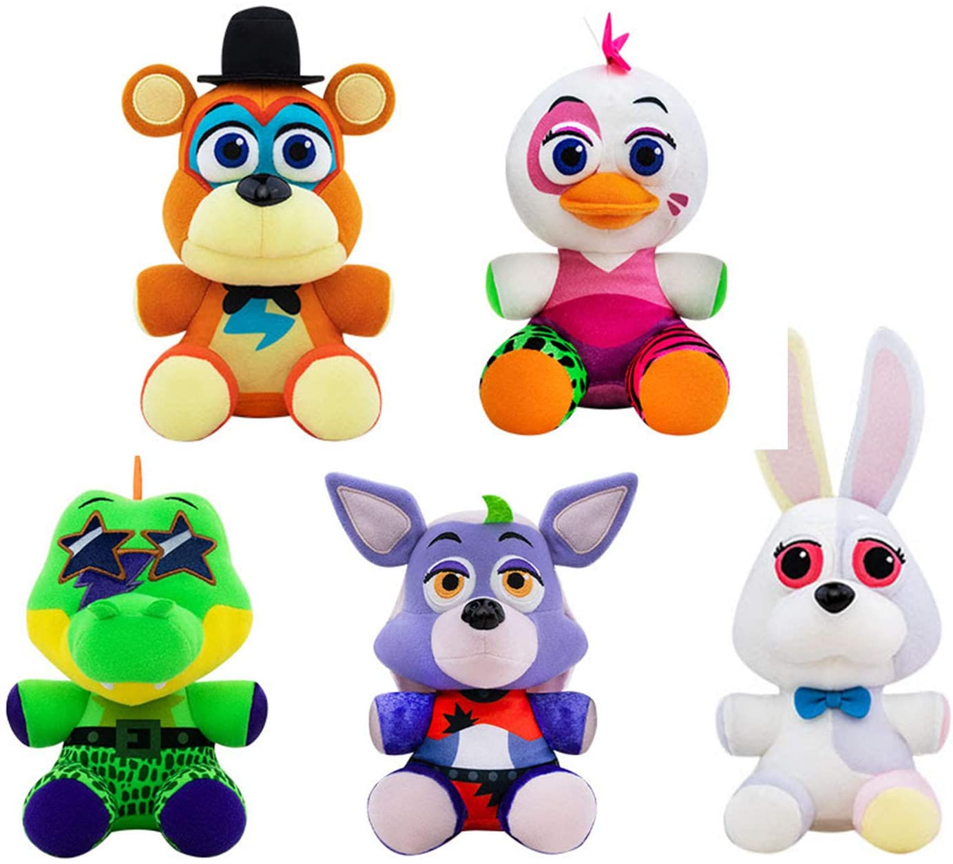 Koala Stuffed Animals Mini, Amazon Com Five Nights At Freddy Fnaf Security Breach Plush Set Of 5 Glamrock Freddy Glamrock Chica Montgomery Gator Roxanne Wolf And Vannie Toys Games