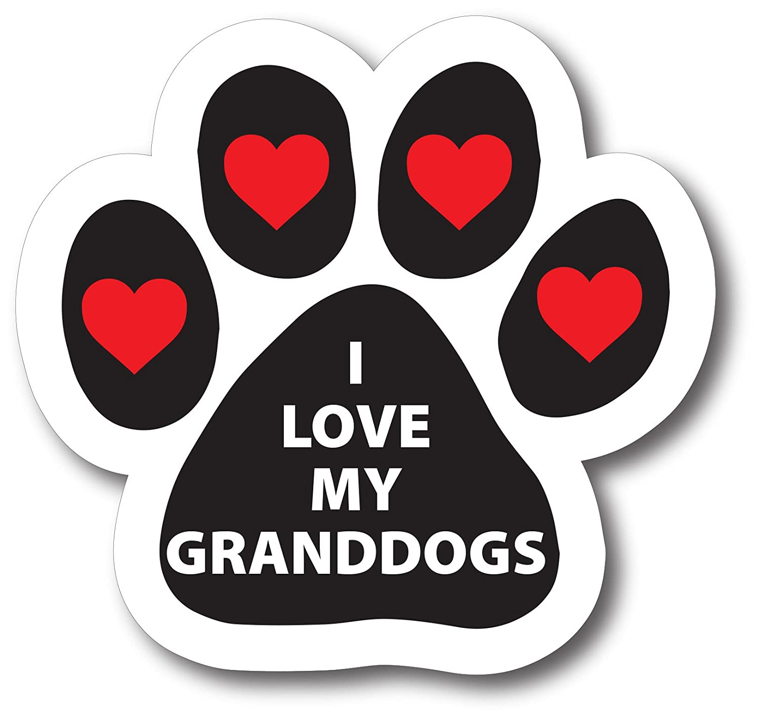 I Love My Granddogs Paw Print Car Magnet Heavy Duty Wateproof
