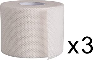 "Surgical Tape Porous Skin Soft Fabric Cloth Adhesive Tape 2"" x 10 Yards Three Rolls; by Areza Medical"