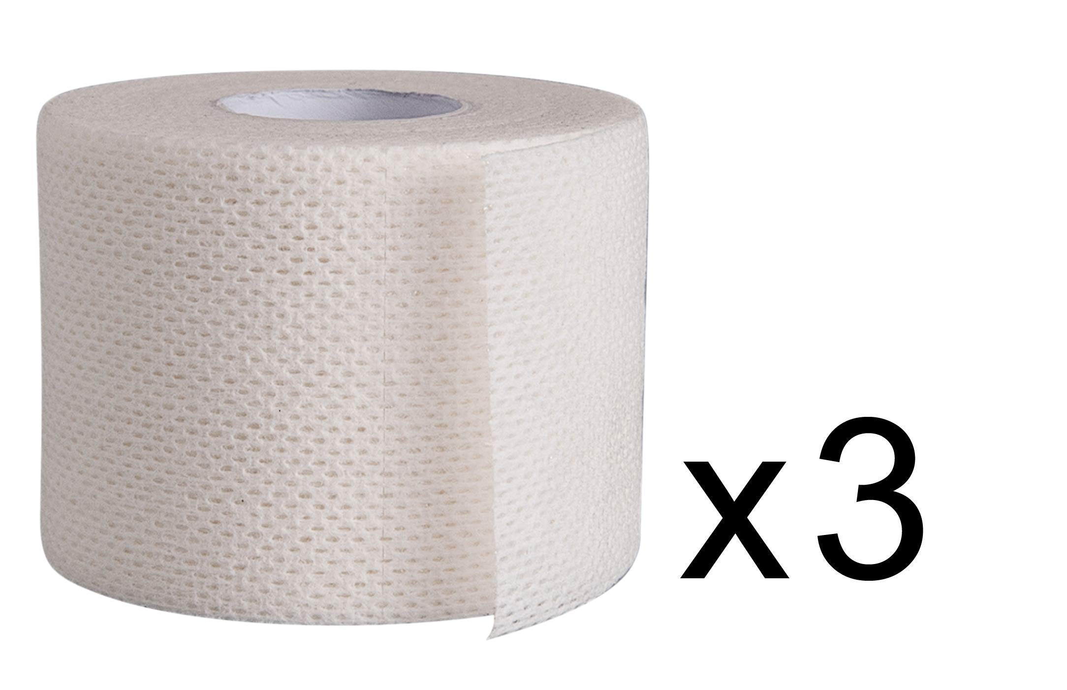 Surgical Tape Porous Skin Soft Fabric Cloth Adhesive Tape 2'' x 10 Yards Three Rolls; by Areza Medical by Areza Medical