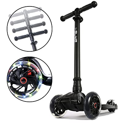 i-Glide Toddler Scooter - 3 Wheel Scooter for Kids - Kids Scooter with Warranty - Scooter for Girls & Boys - Adjustable Handlebar - Wide Deck - Lean 2 Steer - Flashing LED Wheels - : Sports & Outdoors