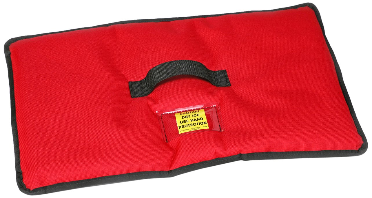 Polar Tech 1560 RED Insulated Dry Ice Cover for TC02 Transport/Storage Chest, 21'' Length x 11'' Width, Red