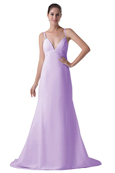 179fd10d14366 Dressy Star Chiffon essenziali sposa vestito abito da sera donna lilla 46 W   Amazon.it  Abbigliamento