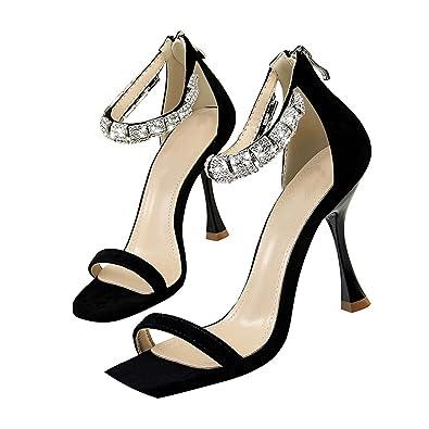 a9d6937e567 Lovely-Shop Women Shoes Sandals Luxury Rhinestone high Heels Gladiator  Sandals Woman Fashion Suede Wedding