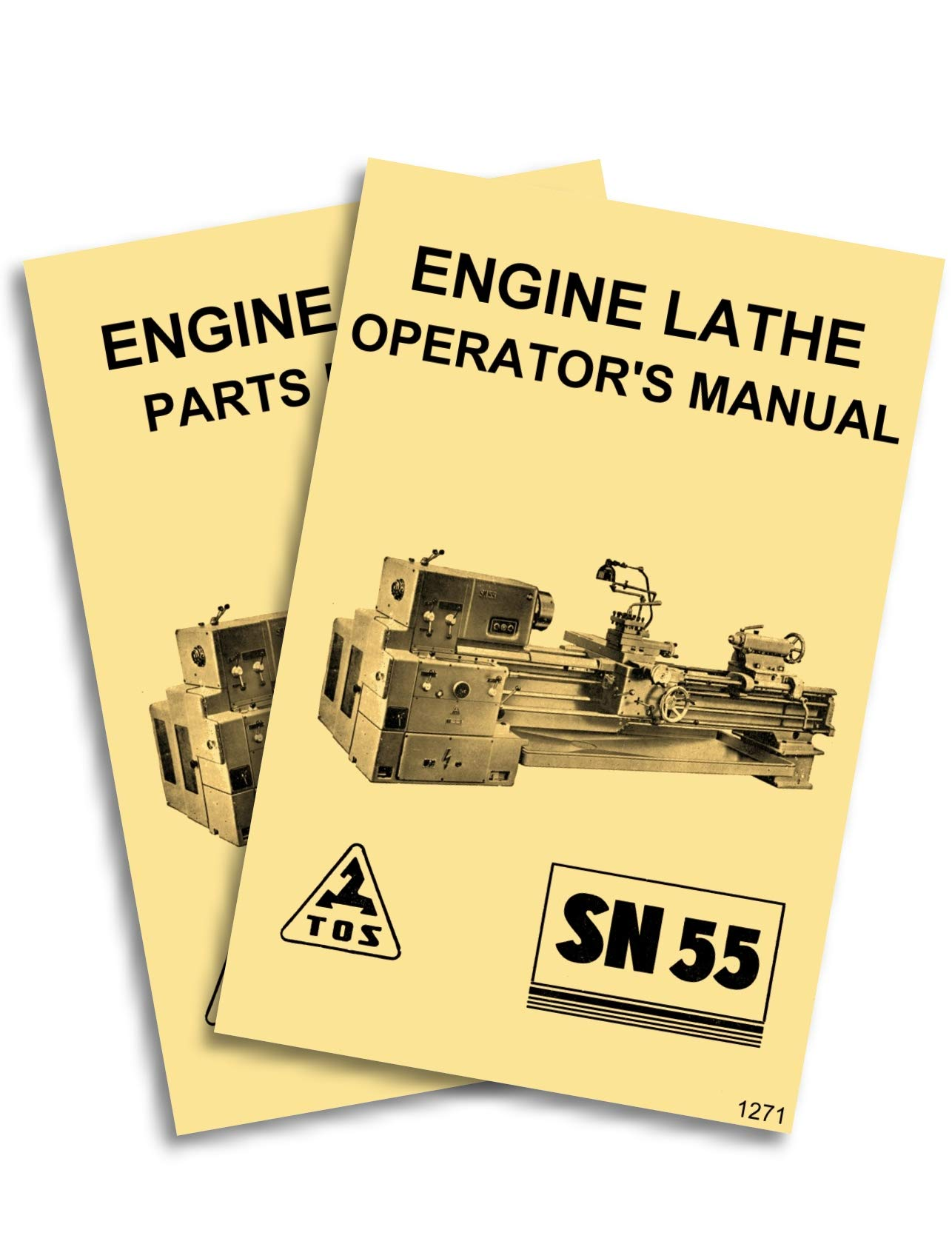 TOS SN55 Engine Metal Lathe Owner's Instructions and Parts Manuals