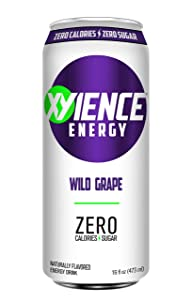 XYIENCE Energy Drink | Wild Grape | Sugar Free | Zero Calories | Natural Flavors | Vitamin Fortified | 16 Ounce (Pack of 12)
